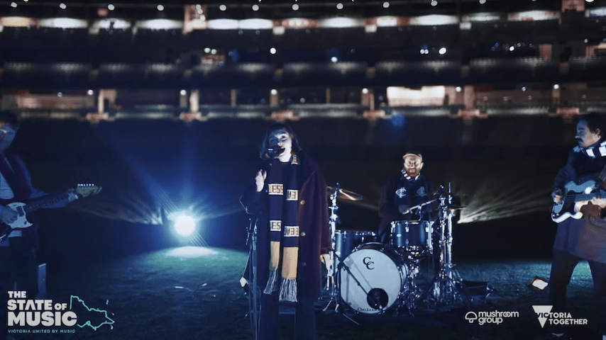 Stella Donnelly and Rolling Blackouts Coastal Fever Perform In An Empty Stadium