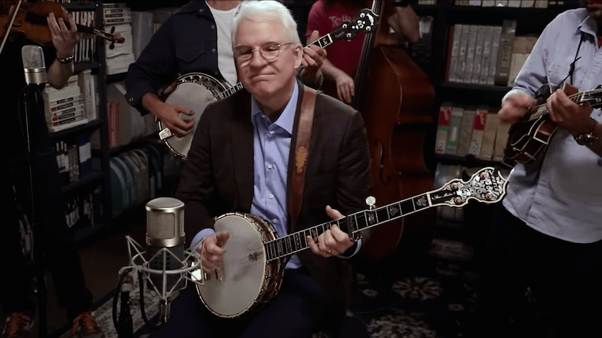 Watch Steve Martin & The Steep Canyon Rangers Corral in the Paste Studio on This Day in 2017