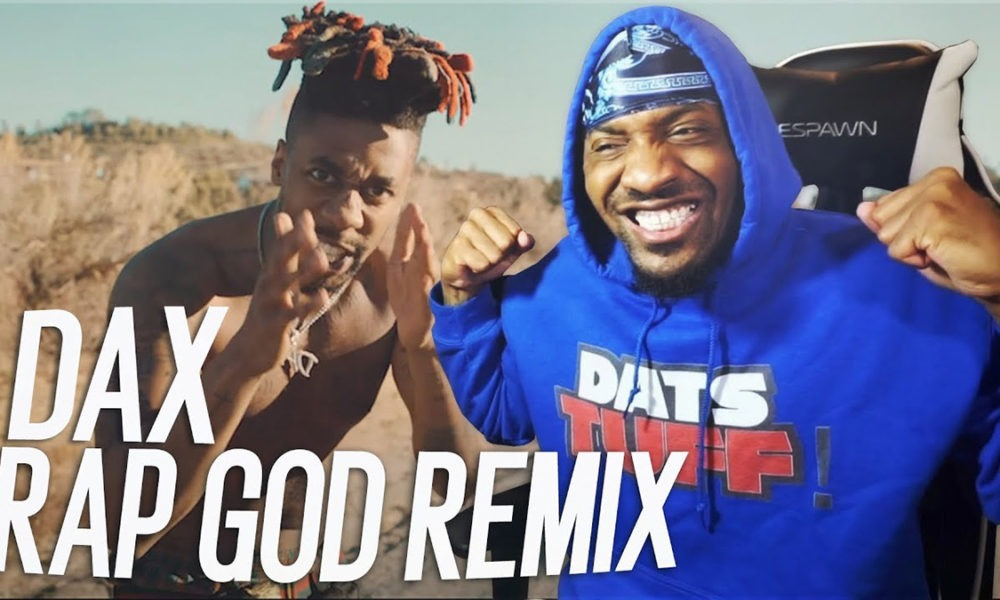 """YouTubers react to Dax's new """"Rap God (Remix)"""" video"""